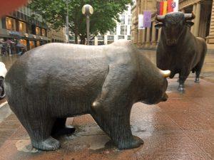 Bulle und Bär - Frankfurter Börse